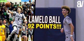 LaMelo Ball ghi 92 điểm