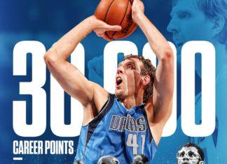 Dirk ghi 30000 diem