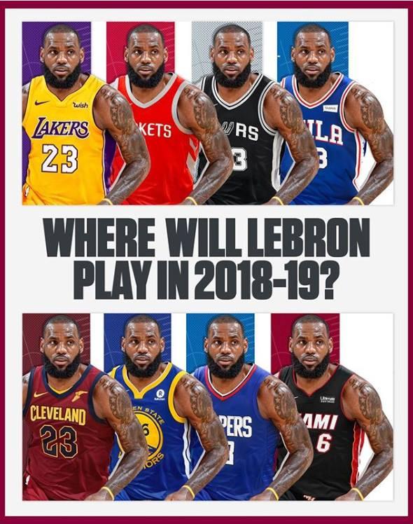 Đâu là nước đi an toàn cho LeBron James?