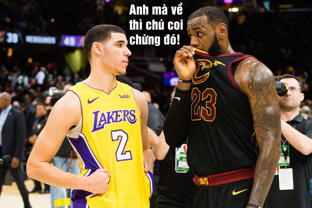 """Lonzo Ball sẽ thành """"vật tế thần"""" nếu Lebron James về Lakers"""