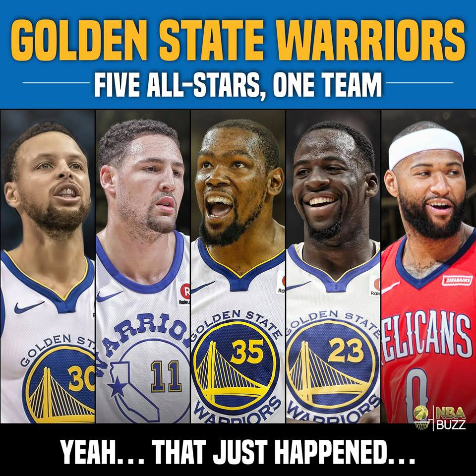 DeMarcus Cousins kí hợp đồng với mức giá không tưởng, Warriors sở hữu đội hình 5 All-Star