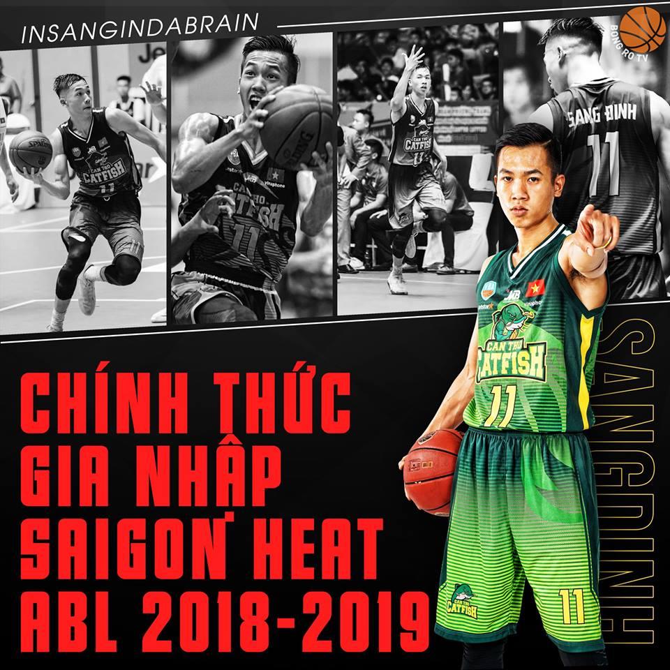 Sang Đinh chính thức gia nhập Saigon Heat ở ABL9