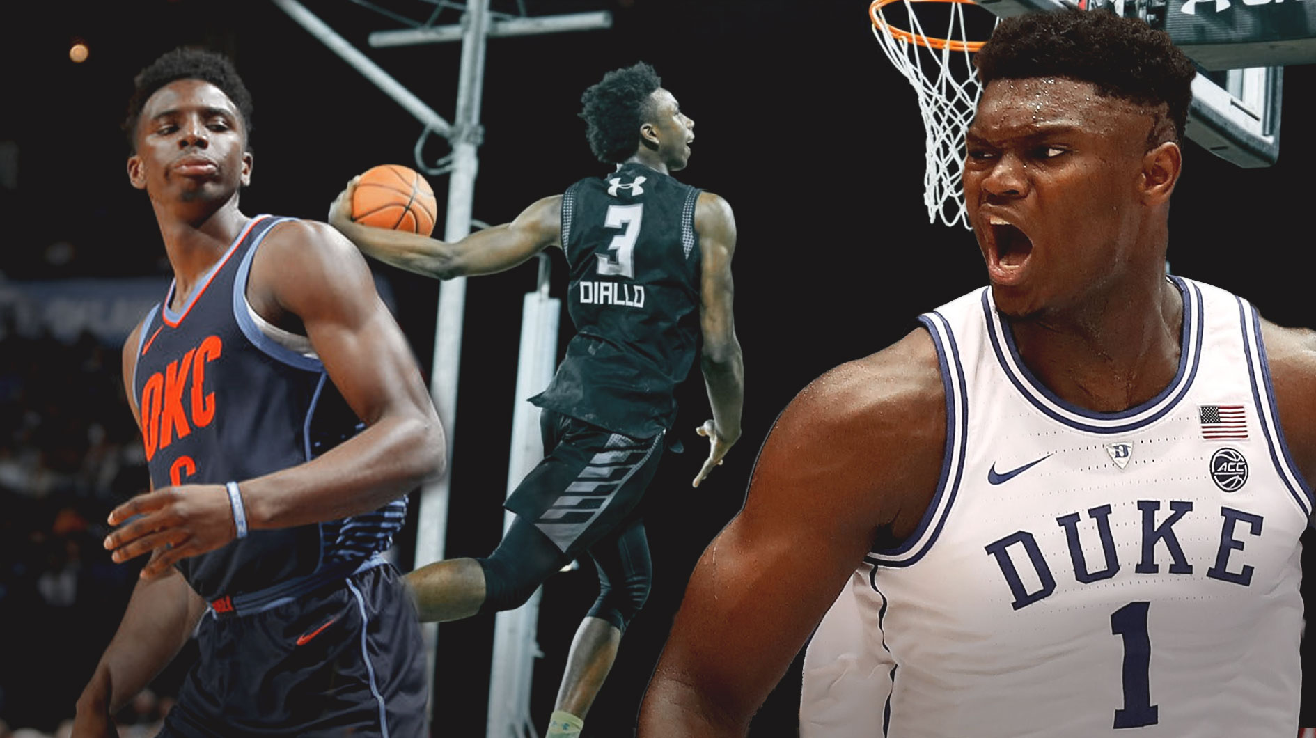 Mặc dù ẳm ngôi vô địch Dunk Contest nhưng Diallo vẫn chưa thể vượt qua Zion