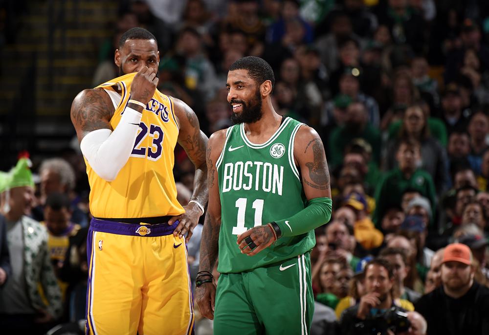 Sau Anthony Davis, Los Angeles Lakers gia nhập cuộc đua đưa Kyrie Irving về tái ngộ với LeBron James